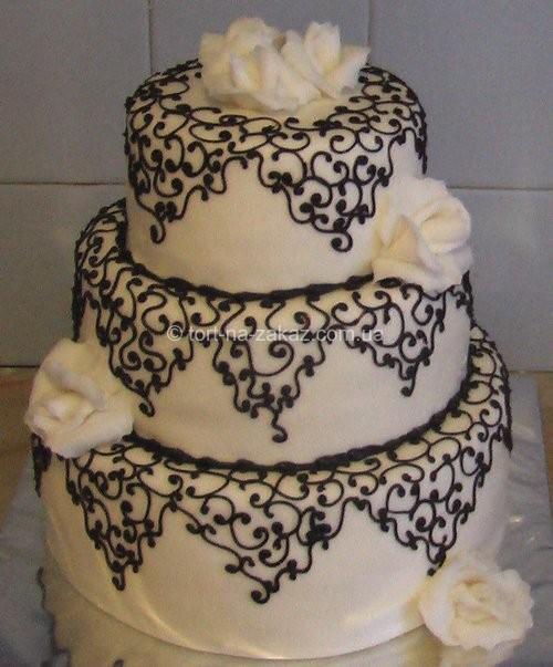 Вишуканий весільний торт - №59