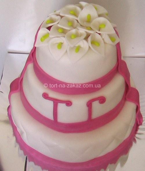 Торт весільний з калами - №61