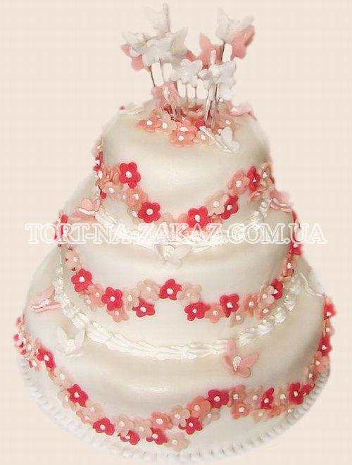 Трёхъярусный красивый торт - №62