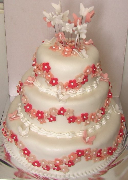 Триярусний красивий торт - №62