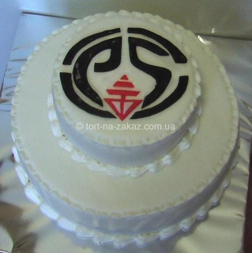 Торт корпоративный двухъярусный - №5