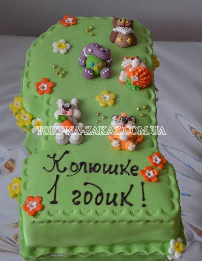 Украшение торта мастикой на годик